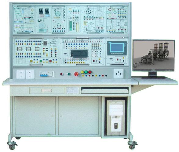 (模块挂箱) (6)四级传送带控制,(7)自动上料装车控制, (8)水塔水位