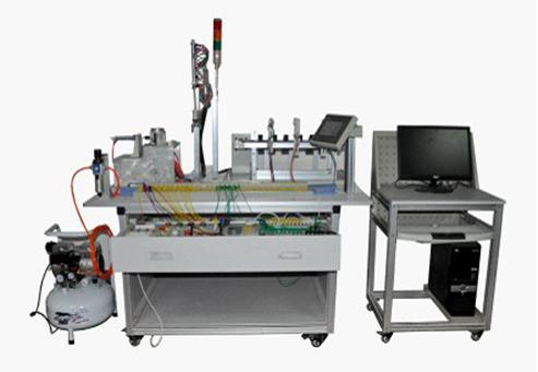 气动机械手装置:四自由度气动机械手,气缸及附属传感器选用smc;气动