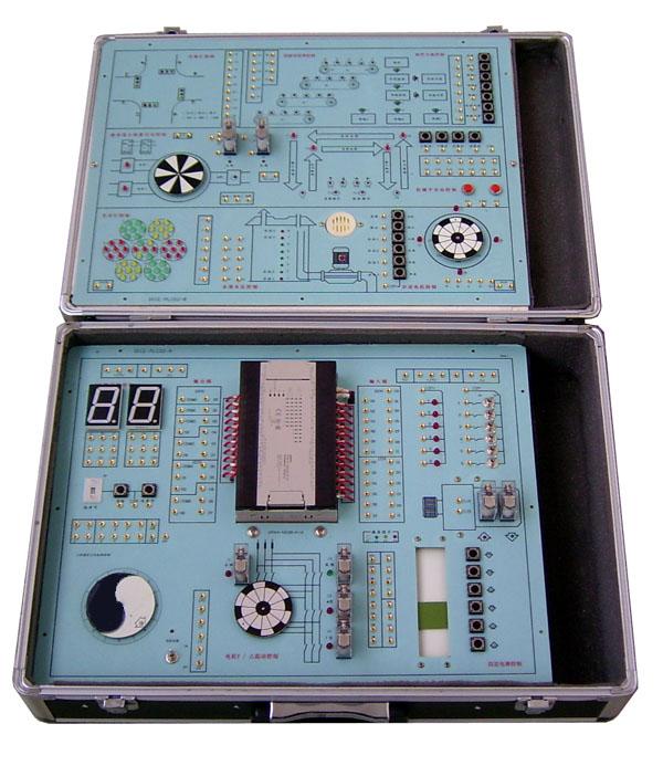 DICE-PLCO2可编程控制器实验箱 一、产品特点 (1)DICE- PLCO2可编程控制器实验箱由我公司技术人员根据用户的需要,最新研制出的教学实验设备。该设备把PC(可编程序控制器)主机和所有实验模块组合设计在上下二块电路板上,使用户无论是在教学活动或项目开发中使用和移动更加灵活方便。更重要的是系统的实验模块比以往的大型实验台设计更加紧凑、合理,实验项目更加丰富。是目前国内市场上一款性价比极高的PC教学实验设备。 (2)实验模块引用了步进电机和减速步进电机;直流电机和减速直流电机;共五个电机和十二
