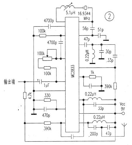 mc2833的应用电路如图2所示